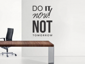Sticker decorativ DO IT NOW NOT TOMORROW1
