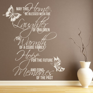 Sticker decorativ - MAY THIS HOME0