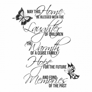 Sticker decorativ - MAY THIS HOME1