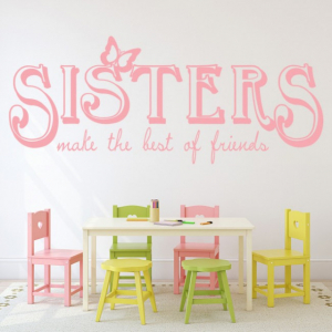 Sticker decorativ - SISTERS FRIENDS0