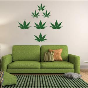 Sticker decorativ - WEED CANNABIS0