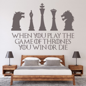 Sticker decorativ - WIN OR DIE QUOTE GAME OF THRONES1