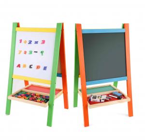 Tabla magnetica educativa cu doua fete si suport0