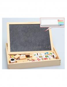 Tablita Magnetica Cu Litere Si Cifre Matematica Din Lemn1