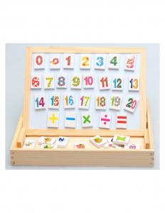 Tablita Magnetica Cu Litere Si Cifre Matematica Din Lemn5