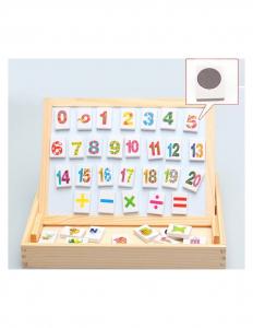 Tablita Magnetica Cu Litere Si Cifre Matematica Din Lemn2