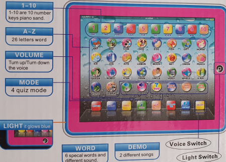 Tableta Copii Invatare Limba Engleza YPAD [1]