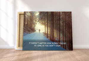 Tablou canvas motivational - JUST WALK!3