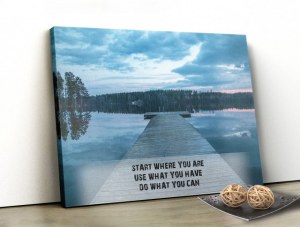 Tablou canvas motivational - START WHERE YOU ARE0