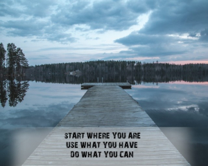 Tablou canvas motivational - START WHERE YOU ARE1