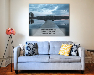 Tablou canvas motivational - START WHERE YOU ARE4