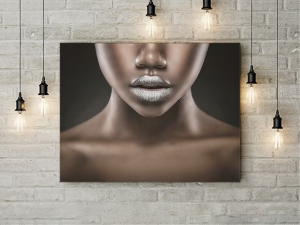 Tablou canvas - SILVER LIPS1