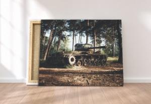Tablou canvas - TANC IN PADURE2
