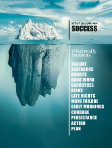TABLOU MOTIVATIONAL - SUCCESS LIKE AN ICEBERG2