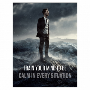 Tablou canvas motivational - TRAIN YOUR MIND TO BE CALM0