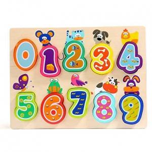 Puzzle din lemn - Numere și animăluțe1