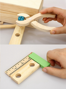 Trusa de scule din lemn cu accesorii5