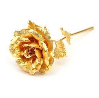 Cadou Gold Lady Sampanie cu foita de aur si Trandafir Aur 2