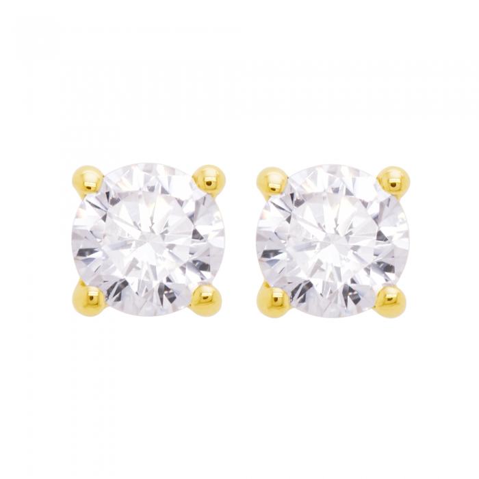 Cercei aur galben 18k cu diamante naturale [1]