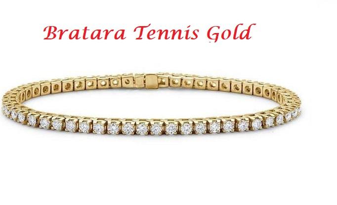 Perfect Lady Gift Set: Cutie Bijuterii Inima Rosie, Bratara Tennis Gold, Cercei Gold Heart [1]