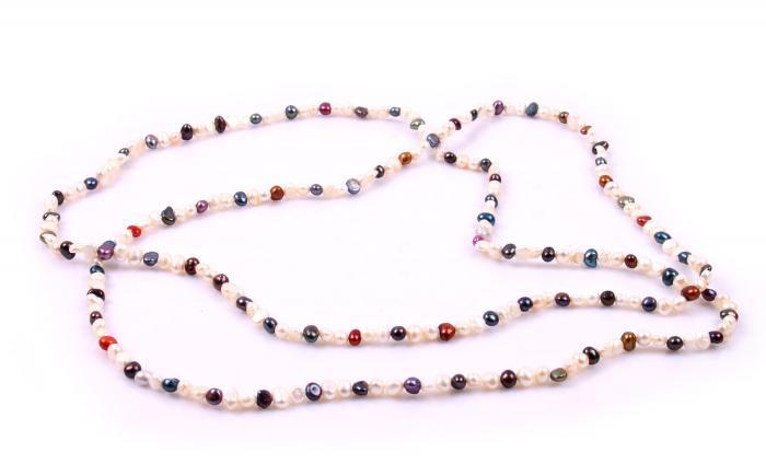 Colier Perle Borealy Super Long Fashion Multicolour 0