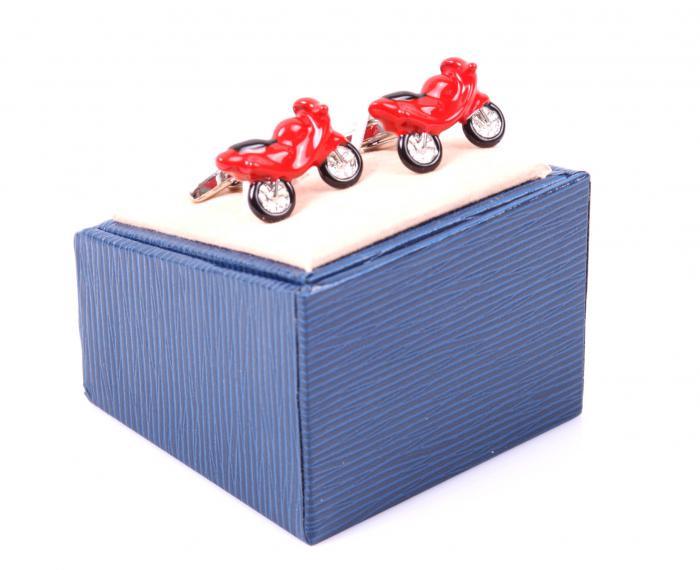 Set Butoni Borealy Red Motorcycle si Note pad Black Hugo Boss-big