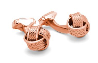 Butoni Knot Rose Gold by Thompson, made in England-big
