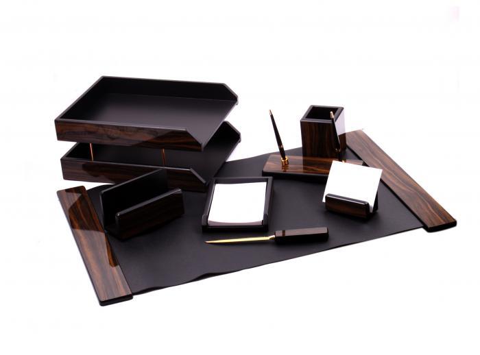 Set multifunctional pentru birou Antique Mahogany cu 8 accesorii 0