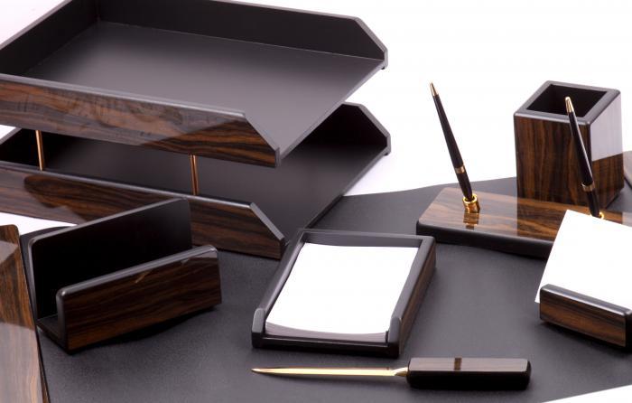 Set multifunctional pentru birou Antique Mahogany cu 8 accesorii 1