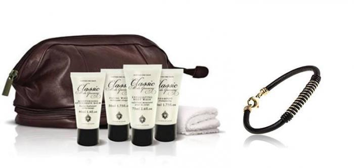 Cadou Trusă Cosmetică Clasic Male - Scottish şi brăţară piele bărbaţi-big