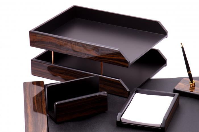 Set multifunctional pentru birou Antique Mahogany cu 8 accesorii 4