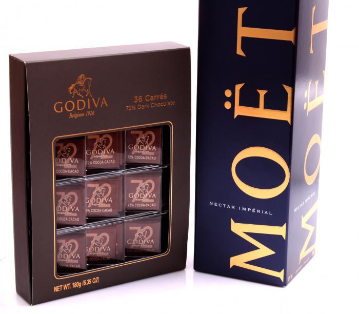 Cadou Moet Nectar Imperial & Godiva-big