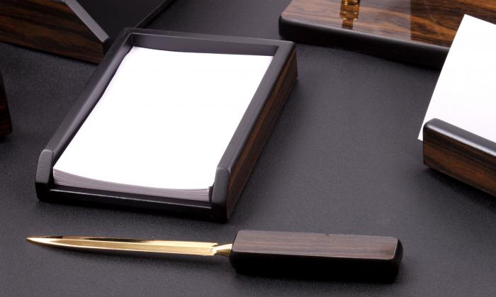 Set multifunctional pentru birou Antique Mahogany cu 8 accesorii 2
