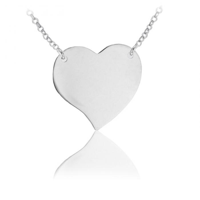 Colier Personalizat Borealy Argint 925 Graphic Heart 2