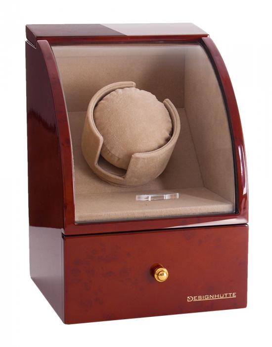 Watch Winder Basel 1 BROWN by Designhütte – Made in Germany 0