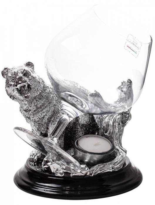 Incalzitor de Cognac Silver Bear by Chinelli - made in Italy 0