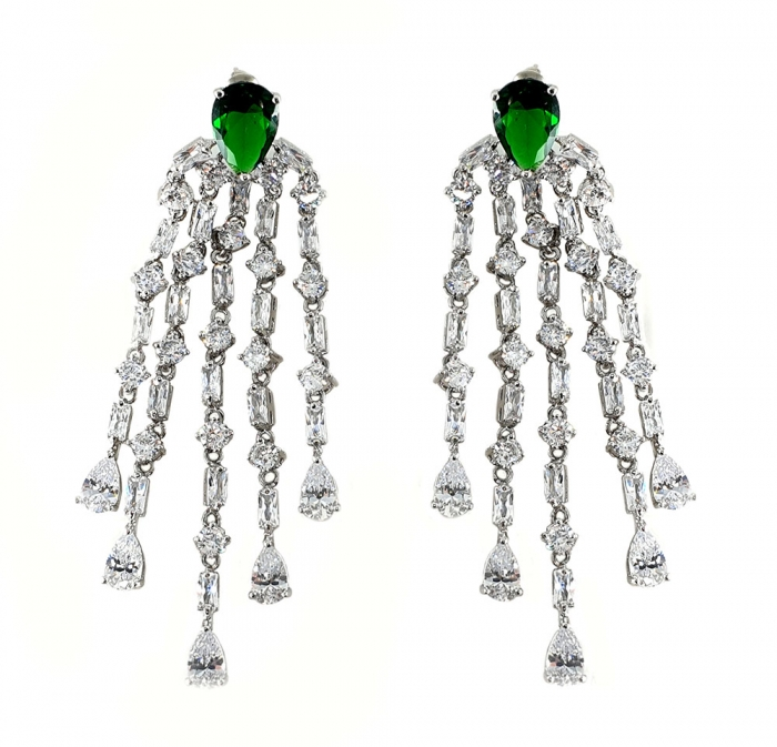 Cercei Borealy Chandelier Green Glamour 0