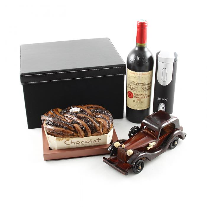 Imperial Luxury Black Leather Gift Box-big