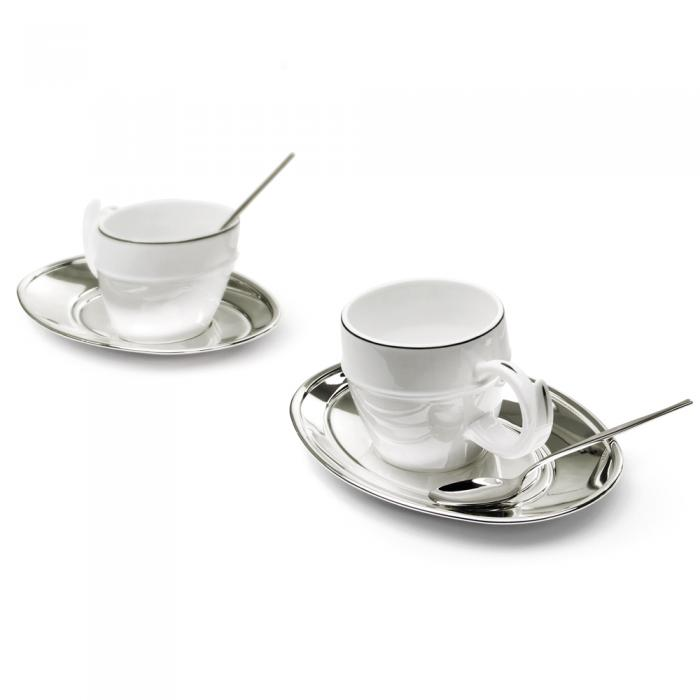 Silver Coffee Set for Two Chinelli - made in Italy 1