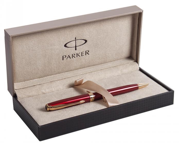 Set Business Pix Parker Ruby Pen Aur 23kt si Note Pad Grey Hugo Boss-big
