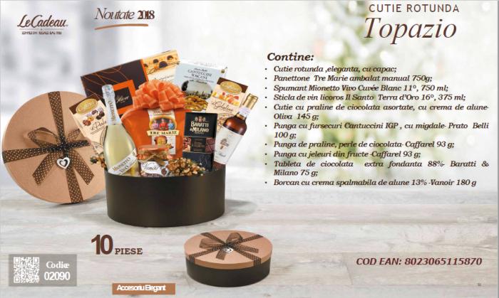 Cos de Craciun, Topazio - 10 piese, made in Italy-big