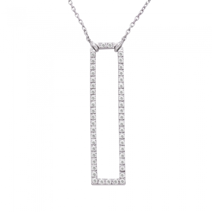 Colier aur alb 18K cu diamante naturale-big