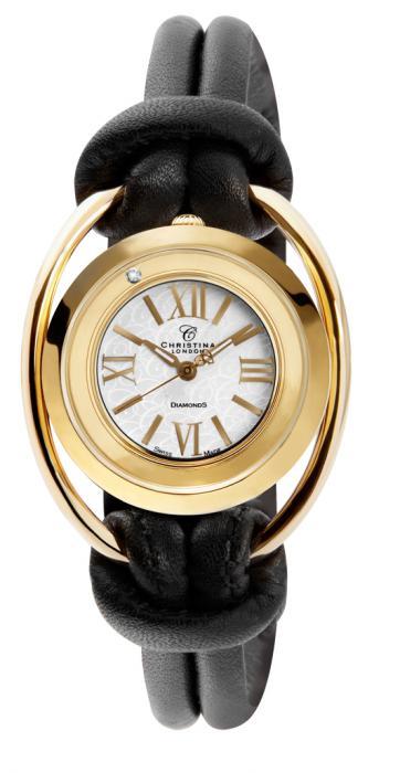Ceas Christina Piele Naturala & 1 Diamant Casual Gold-big