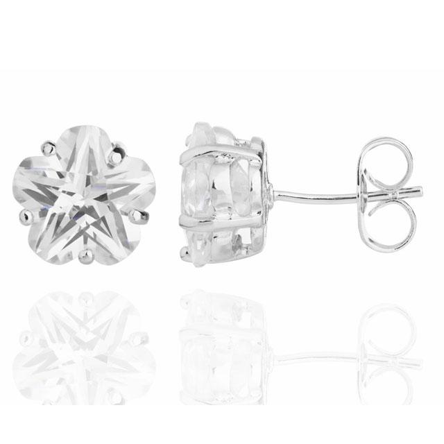 Cercei Borealy Sapphire Studs Flower Cut 1