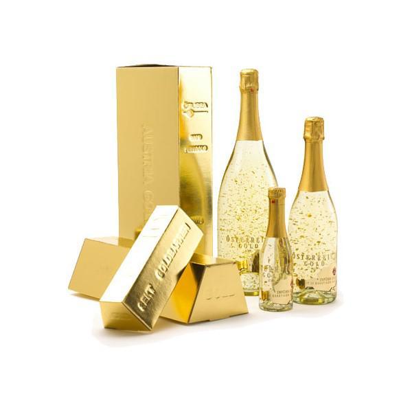 Cadou Gold Luxury Şampanie - cu foiţă de aur 23 karate & Gold Coffee - personalizabil 3