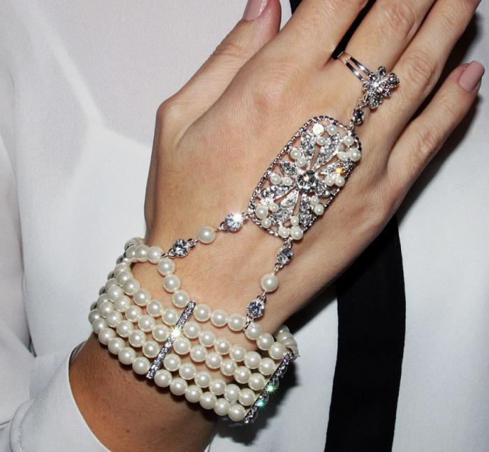 Great Gatsby Pearl Brăţară 4