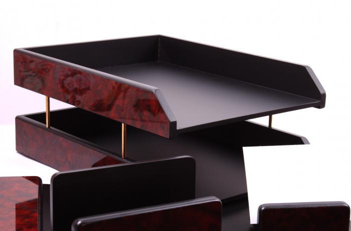 Business Set multifunctional pentru birou Dark Burgundy cu 8 accesorii 5