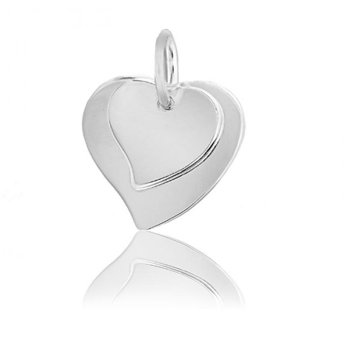 Pandantiv Borealy Argint 925 Double Heart personalizabil-big
