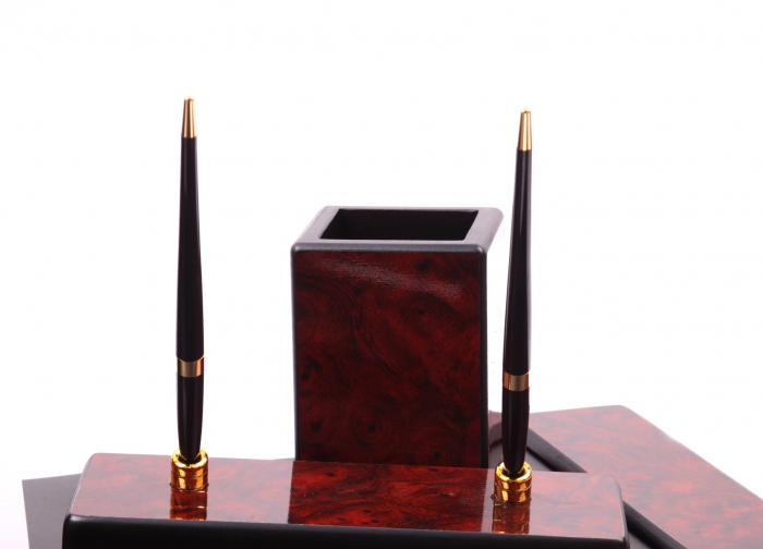 Business Set multifunctional pentru birou Dark Burgundy cu 8 accesorii 7