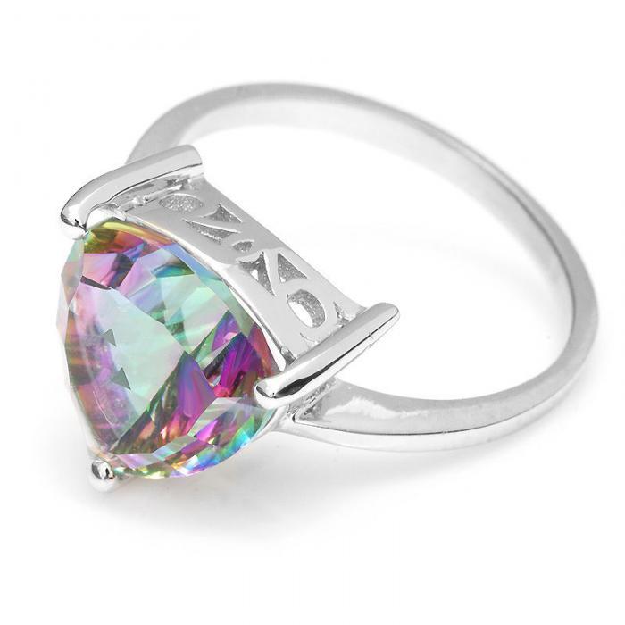 Inel Borealy Argint 925 Mistic Topaz 4 Carate Triangle Mărimea 6 4